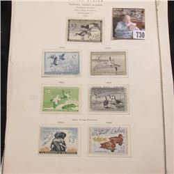 6 different Signed U.S. Department of the Interior Migratory Bird Hunting Stamps, 1954-60. All hinge