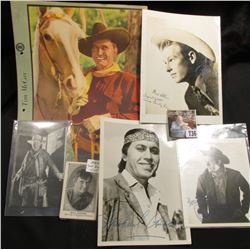 """Tex Ritter"" & ""Tim McCoy"" Color lithographs; photo card of ""Wm. S. Hart""; advertising photocard ""Wi"