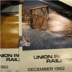 Union Pacific Railroad 1982 & 83 Calendars, excellent condition.