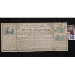 "1880 era Political Satirical $1000 Bank Note ""The Peoples money Cheap and Plenty This is One Thousan"