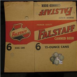 "Unused, flat box ""Premium Quality Falstaff Canned Beer 6 12-ounce Cans""; 1892 P G/AG; 1899 P Good; 1"