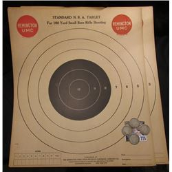"(3) ""Standard N.R.A. Target For 100 Yard Small Bore Rifle Shooting Compliments of the Remington Arms"