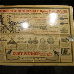 """Gust Werner South Haven, Minn…Forced Auction"" Poster; 1896 P, 97 P, 98 P, & 1900 P U.S. Barber Quar"