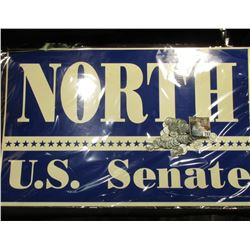 "Large Poster ""North U.S. Senate""; & (50) Old replated U.S. World War II Steel Cents."