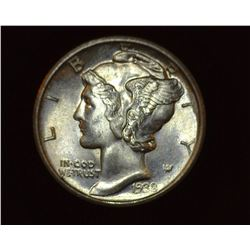 1938 D Mercury Dime, Brilliant Uncirculated.
