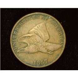 1857 U.S. Flying Eagle Cent, VF.