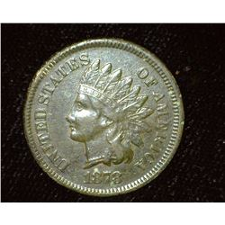1878 Indian Head Cent, VF-EF, Dark toned.