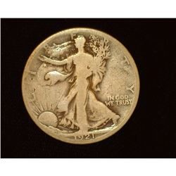 1921 S Walking Liberty Half-Dollar, G.