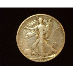 1933 S Walking Liberty Half-Dollar, VG.