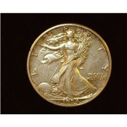 1934 S Walking Liberty Half-Dollar, EF.