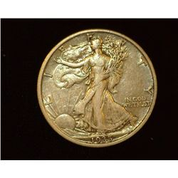 1935 P Walking Liberty Half-Dollar, VF.