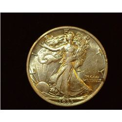 1935 P Walking Liberty Half-Dollar, EF-AU.