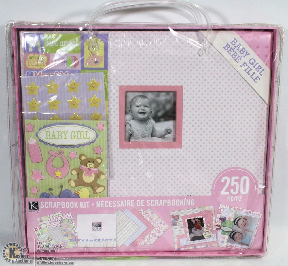 Babygirl 250pc Scrapbooking Kit
