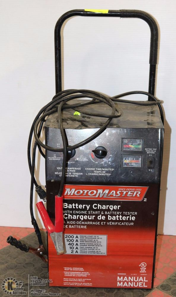 motomaster battery charger with engine start rh liveauctionworld com motomaster automatic battery charger instructions motomaster 12/2a automatic battery charger manual