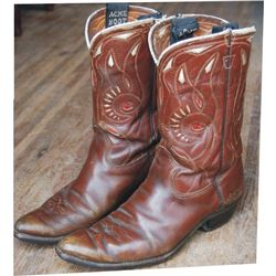 1940-50's inlaid cowboy boots