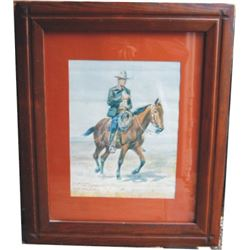 2 framed Charles Russell prints