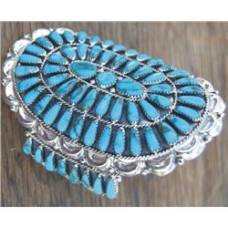 Dennis Wallace turquoise and silver bracelet