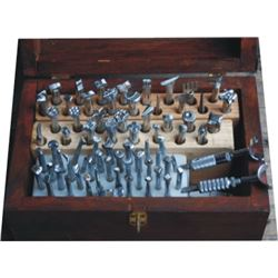 set of 70 leather stamping tools