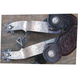 Crockett silver overlaid spurs