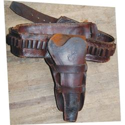 early gun rig, double loop, leaf embossed, .45 impressed, money belt,