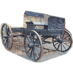 horse drawn single seat ranch wagon
