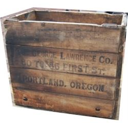 G L Lawrence Saddlery folding wooden box