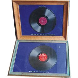 2 framed Gene Autry 78 records