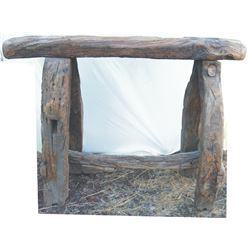 way nice mesquite saddle stand - VERY HEAVY - NOT TO BE SHIPPED