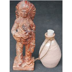 Indian figurine and pottery