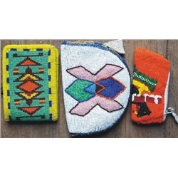 3 small Warm Springs beaded purses & wallet