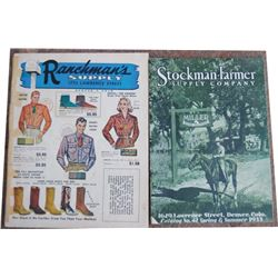 1933 Stockman-Farmers Supply & 1954 Ranchman's Supply catalogs