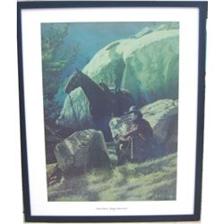 "Tom Horn package:  signed & numbered portrait of Horn by Cody WY artist LD ""Bob Edgar 30X24"""
