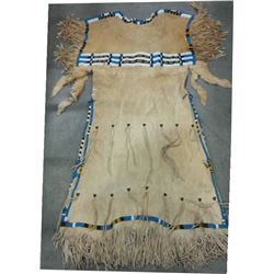 "Southern Plains large beaded dress, 56"" long, 26"" at shoulders"