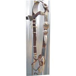 Navajo silver headstall, good condition