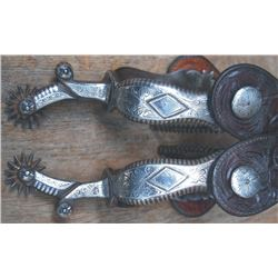 50's Fleming silver inlaid spurs