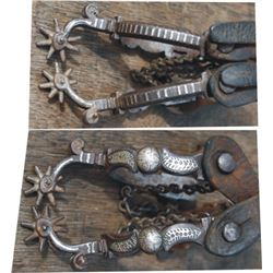 Figueroa double mounted 1890's Calif spurs