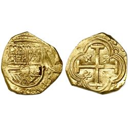 Bogota, Colombia, cob 2 escudos, Philip IV, assayer not visible ( R), mintmark NR to right (ca. 1650