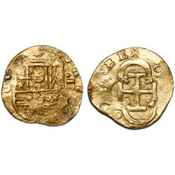Seville, Spain, cob 2 escudos, Philip III, assayer D.