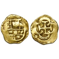 Seville, Spain, cob 2 escudos, Philip IV or Charles II, assayer not visible.