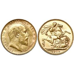 Australia, sovereign, 1910, Perth mint.