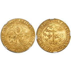 France, salut d'or, Henry VI (1422-53), encapsulated NGC MS 62.