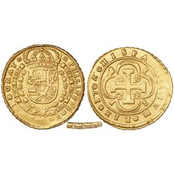 "Seville, Spain, milled 8 escudos, Philip V, 1704P, ""8 S 8 P"" variety, from the 1715 Fleet (very rare"