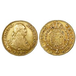 Madrid, Spain, bust 1 escudo, Charles IV, 1789MF.