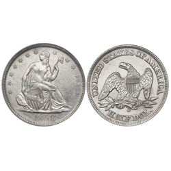 USA (New Orleans mint), half dollar seated Liberty, 1858-O, from the SS Republic (1865), encapsulate