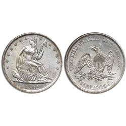 USA (New Orleans mint), half dollar seated Liberty, 1861-O, Louisiana issue, from the SS Republic (1