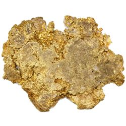 Large gold mineral specimen from a mine in the Dominican Republic, 140 grams.