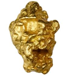 Natural gold nugget from Australia, 16.87 grams.