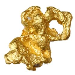 Natural gold nugget from Australia, 6.53 grams.