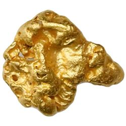 Natural gold nugget from Australia, 5.34 grams.