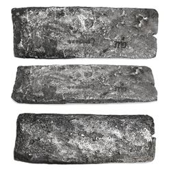 Large silver bar, 13.12 kg, marked with owner/shipper's cipher MOs, fineness UUCCCLXX (2370/2400 fin